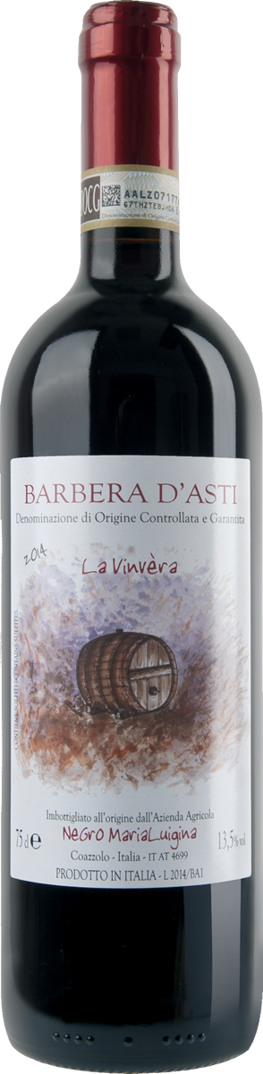 "Barbera d'Asti D.O.C.G. ""La Vinvèra""."