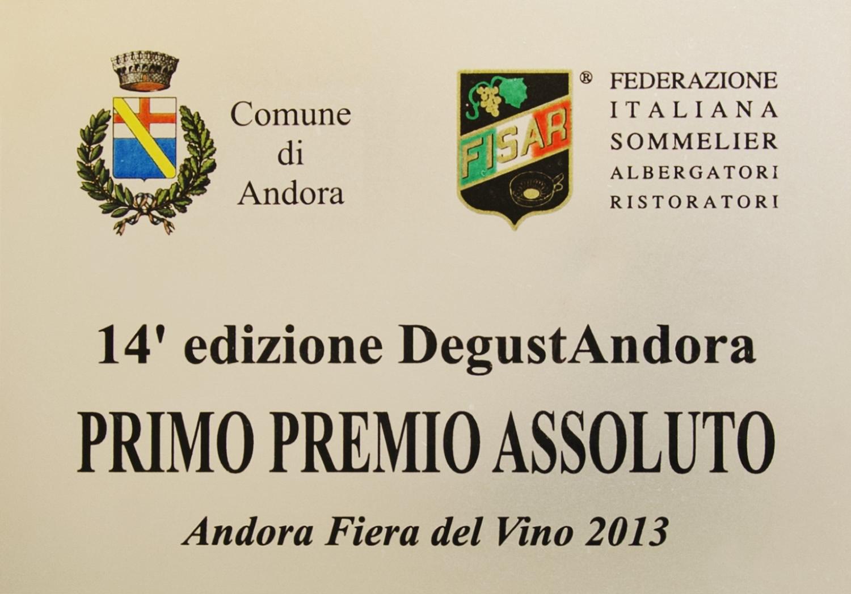 Pimo Premio Assoluto - Andora Fiera del Vino 2013.