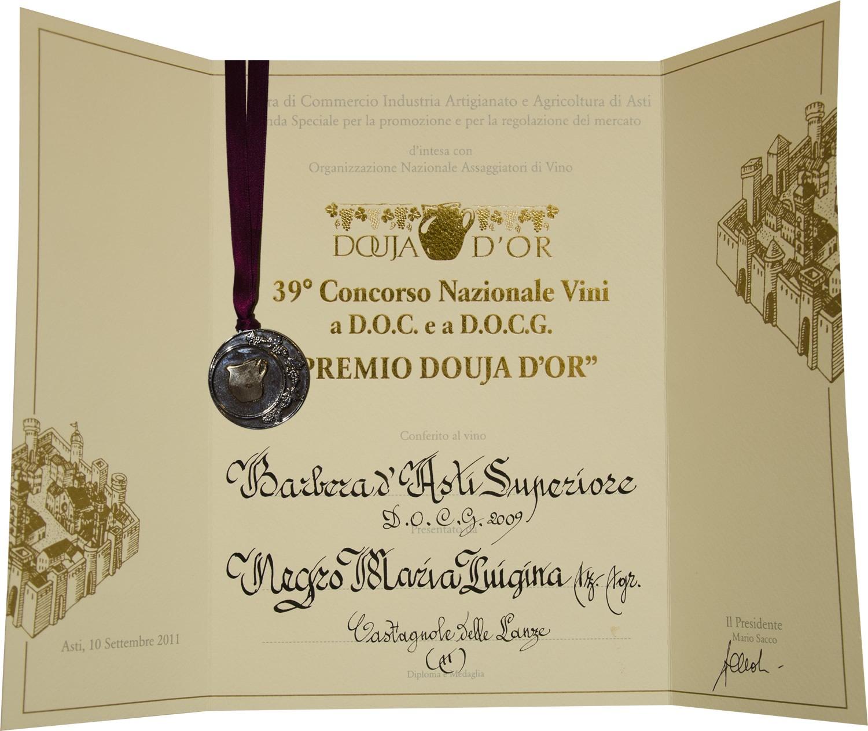 """""""Premio Douja d'Or"""" 2011 - Barbera d'Asti Superiore D.O.C.G. 2009."""