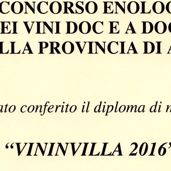 """VininVilla 2016 - Moscato d'Asti D.O.C.G. """"Carretta"""" 2015."""