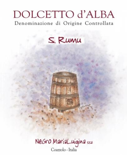 """Etichetta Dolcetto d'Alba D.O.C. """"San Rumu""""."""
