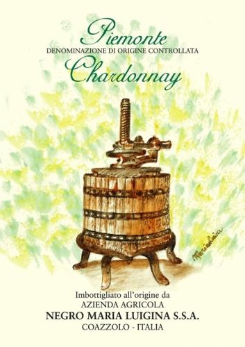 Piemonte Chardonnay D.O.C. label.
